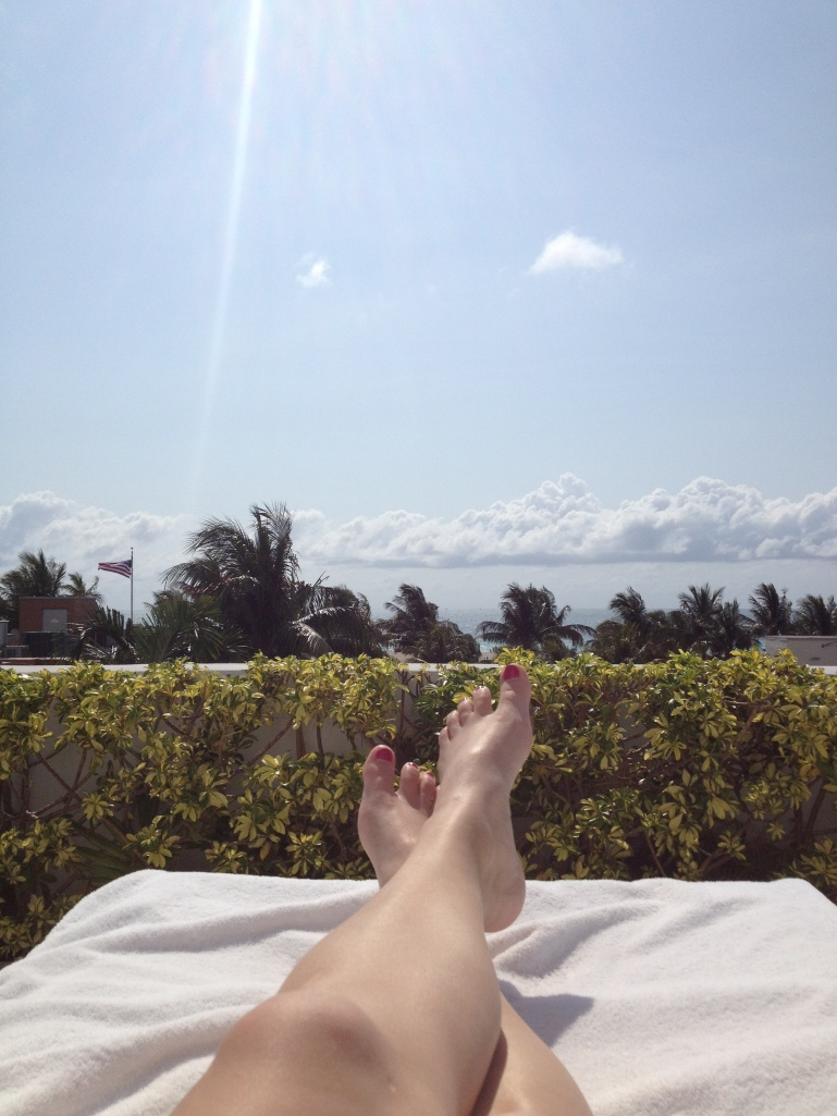 Lounging at the pool looking at the ocean. Utter peace with service as needed.