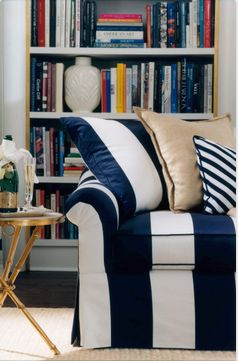 Navy Striped Ralph Lauren Home Sofa