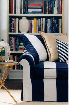 Navy Striped Ralph Lauren Home Sofa