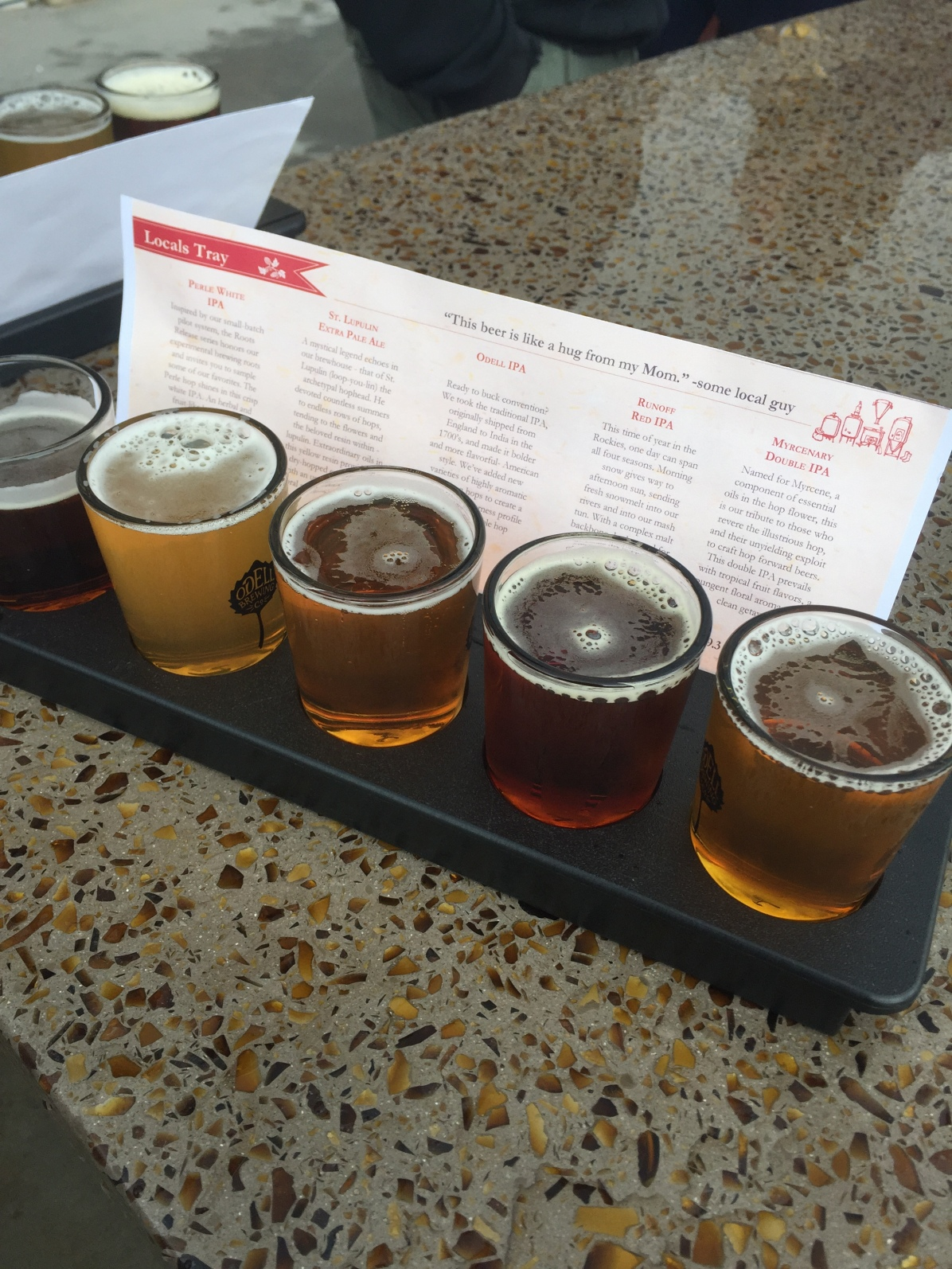 Always test out a beer flight before your first half marathon.
