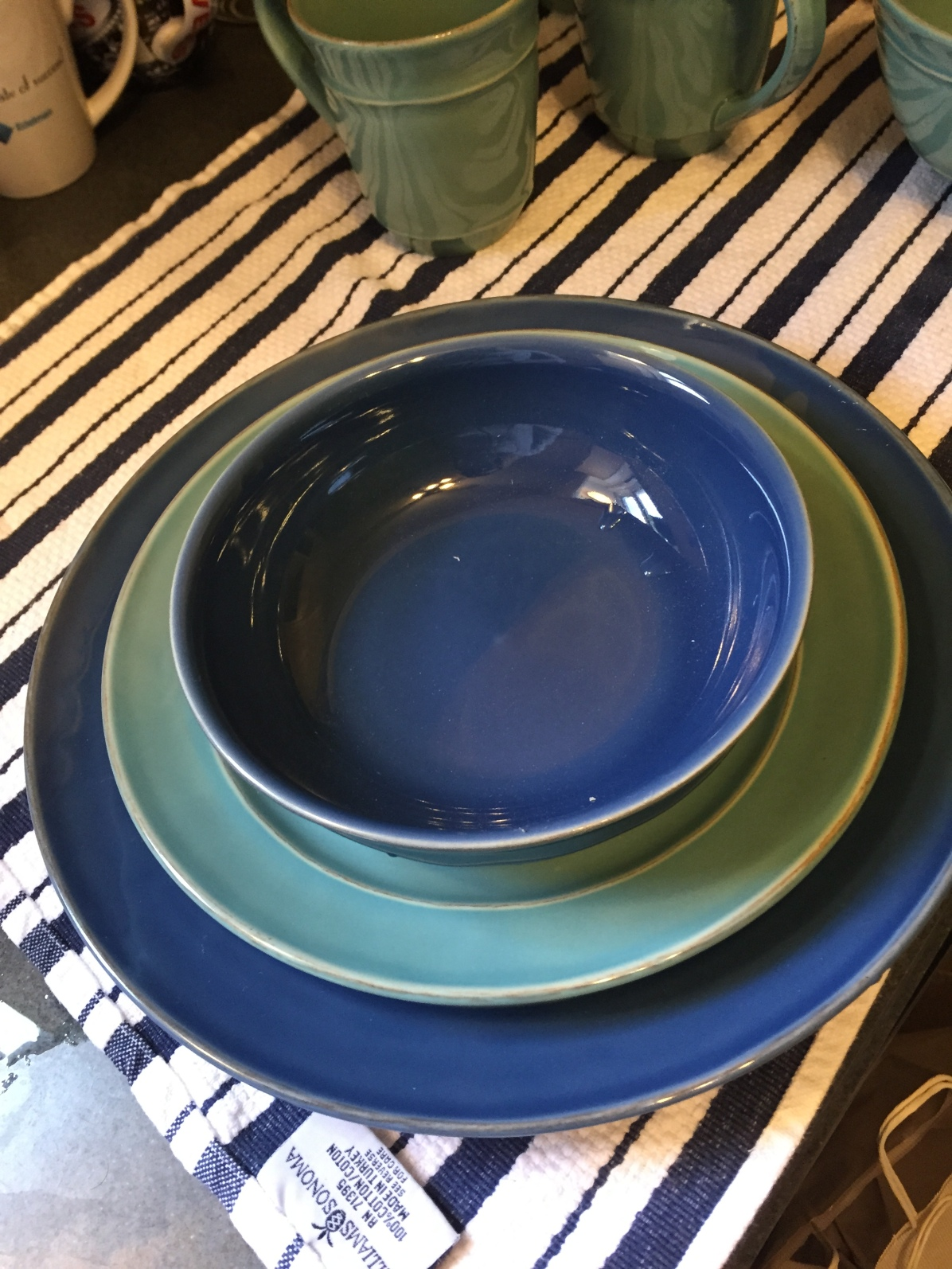 You spend Friday night buying dinnerware at Pottery Barn.