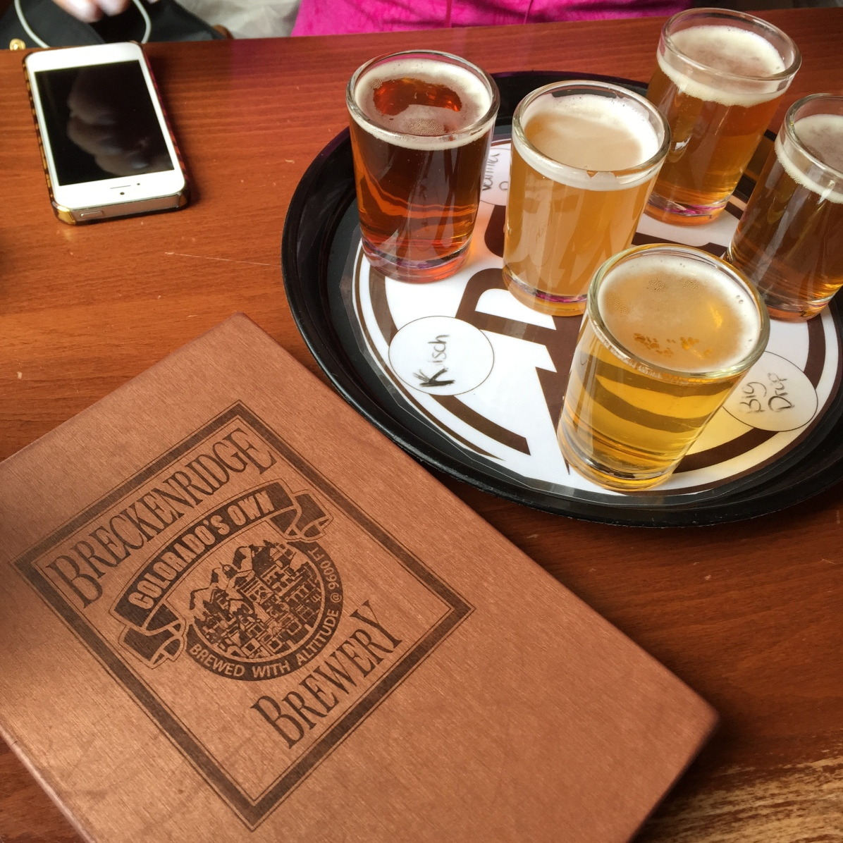 Another flight of beers at Breckenridge brewery with Maria!